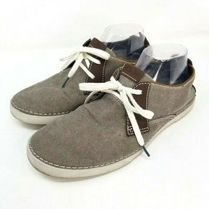 Clarks Mens size 8 Neelix Vibe Canvas oxford shoes